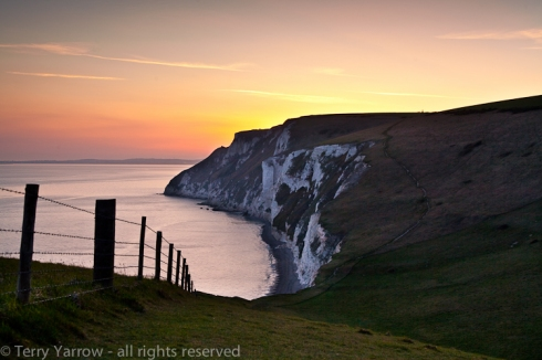 White Nothe sunset