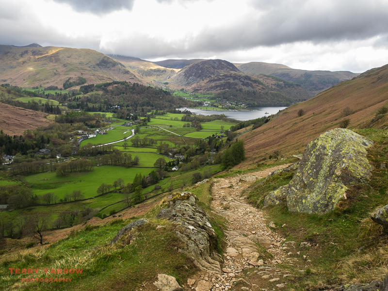 Looking Back at Patterdale and Ullswater