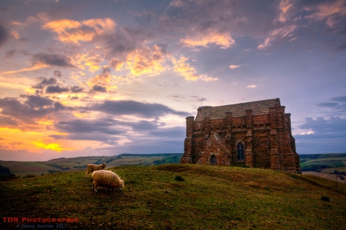 The sun sets on St Catherine's Chapel