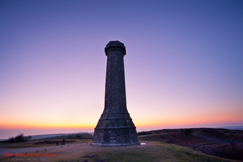 Hardy Monument sunset