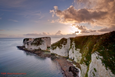 Sunrise at Old Harry Rocks
