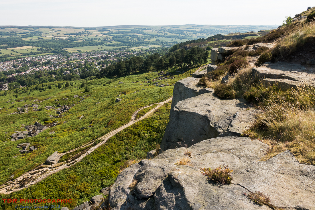 Ilkley from Ilkley Crags