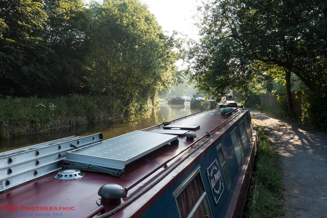 Barges in the early morning light