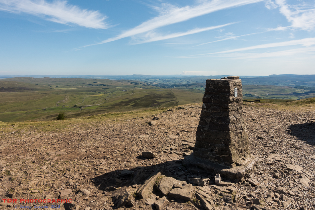 On the summit of Pen Y Ghent