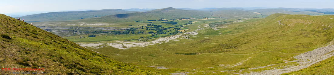 Ingleborough Summit Panorama