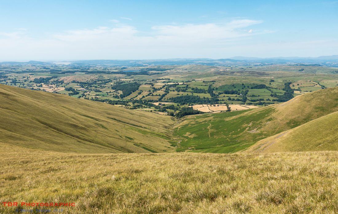 Looking down Crosdale Beck towards Morecombe Bay