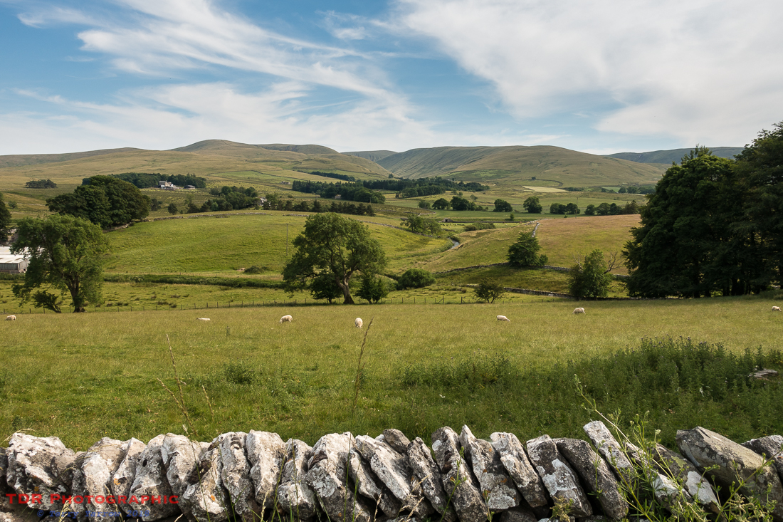 Looking back at the Howgills from Bowderdale