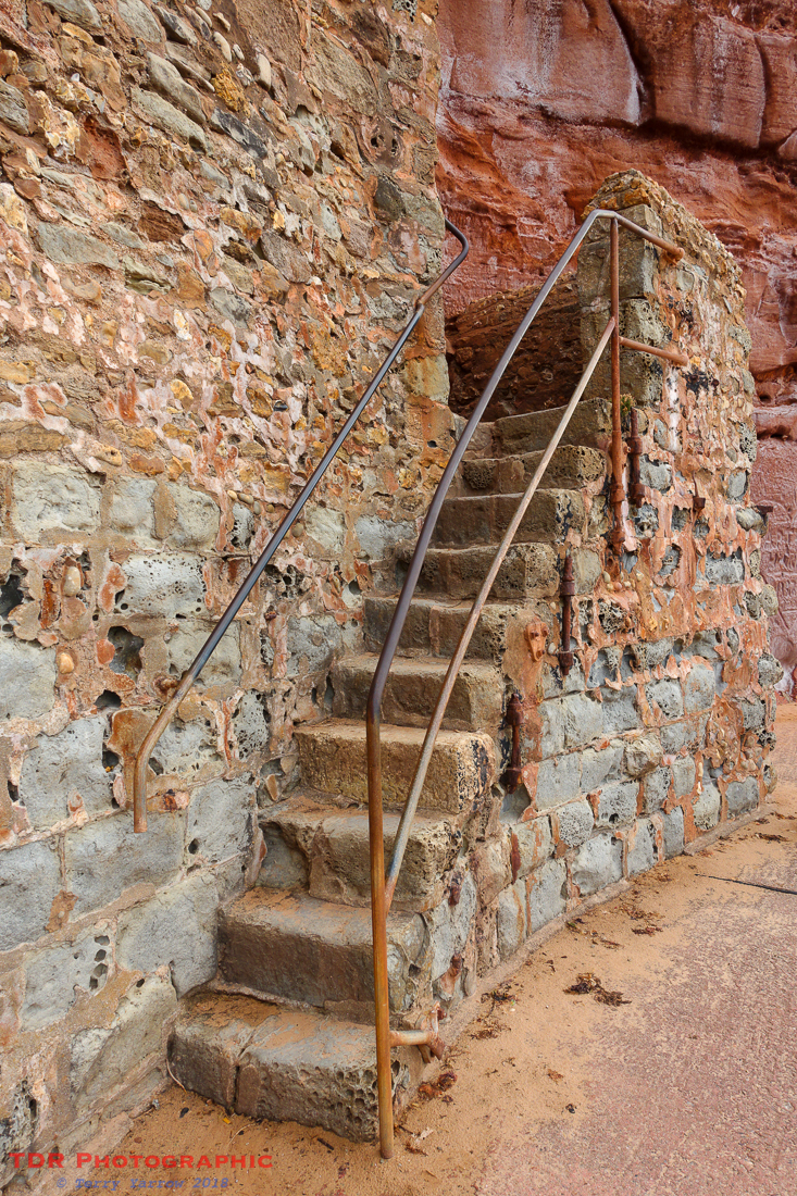 The old steps at Sidmouth