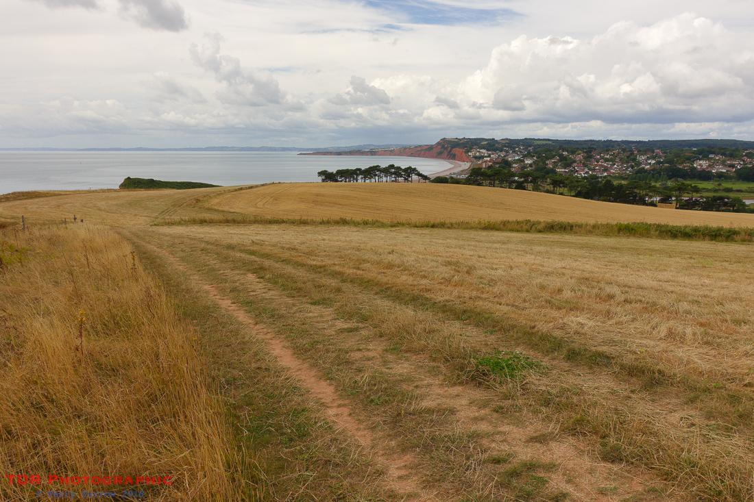 Approaching Budleigh Salterton