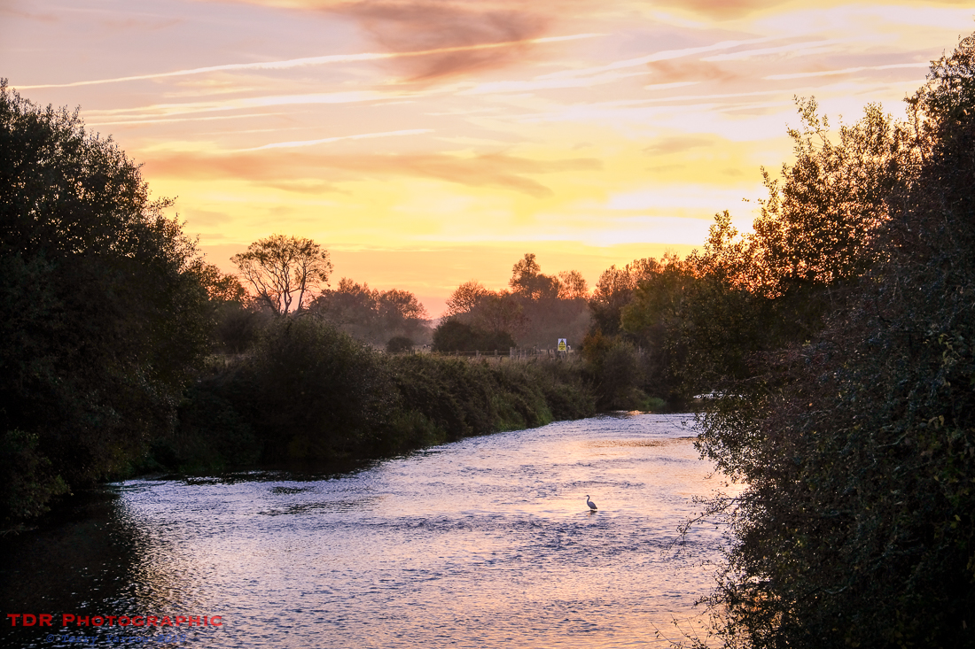 Sunset over the Stour