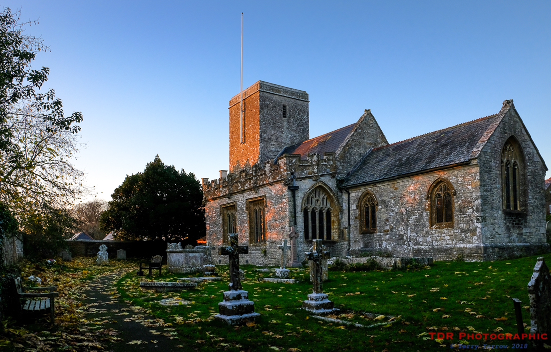 Stinsford Church at Sunset