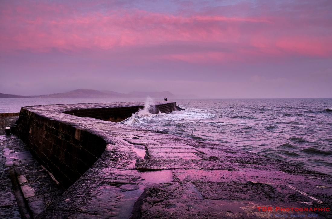 The Cobb at Sunset