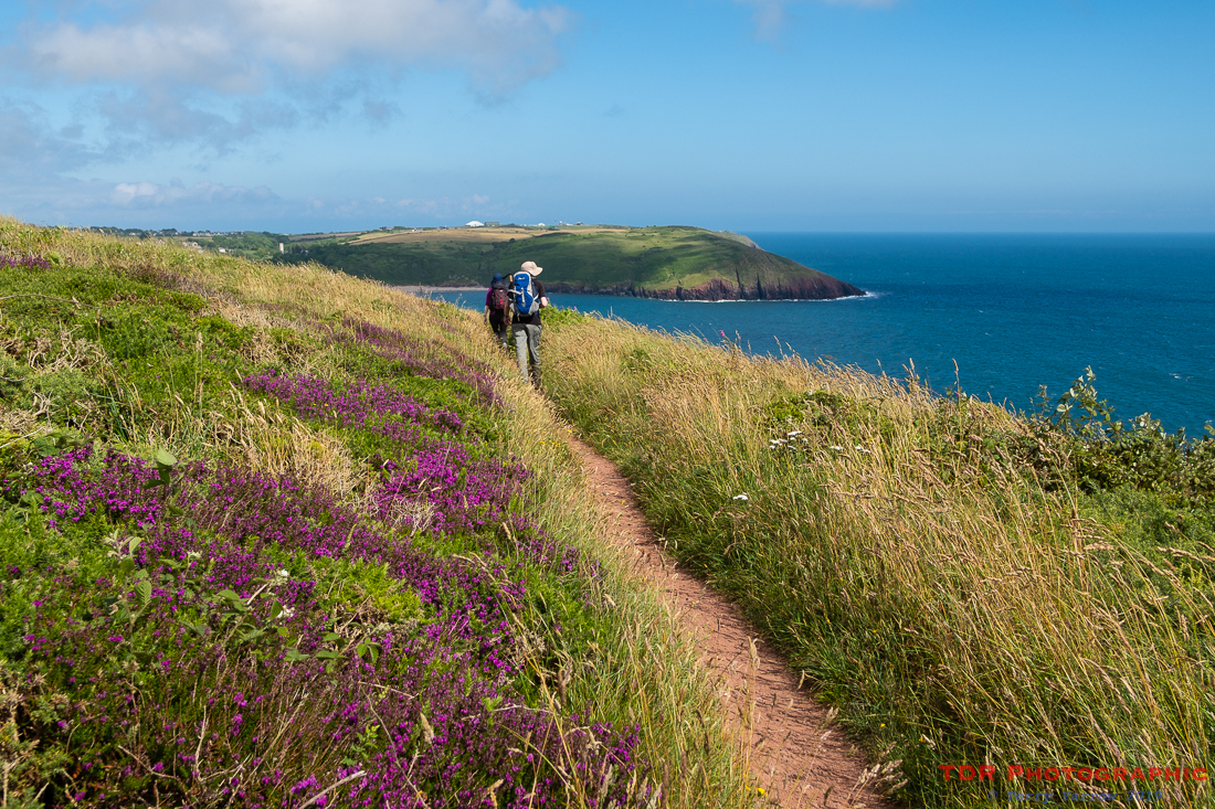 Approaching Manorbier Bay