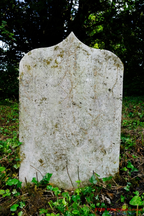 The headstone of Prudence Barfoot before