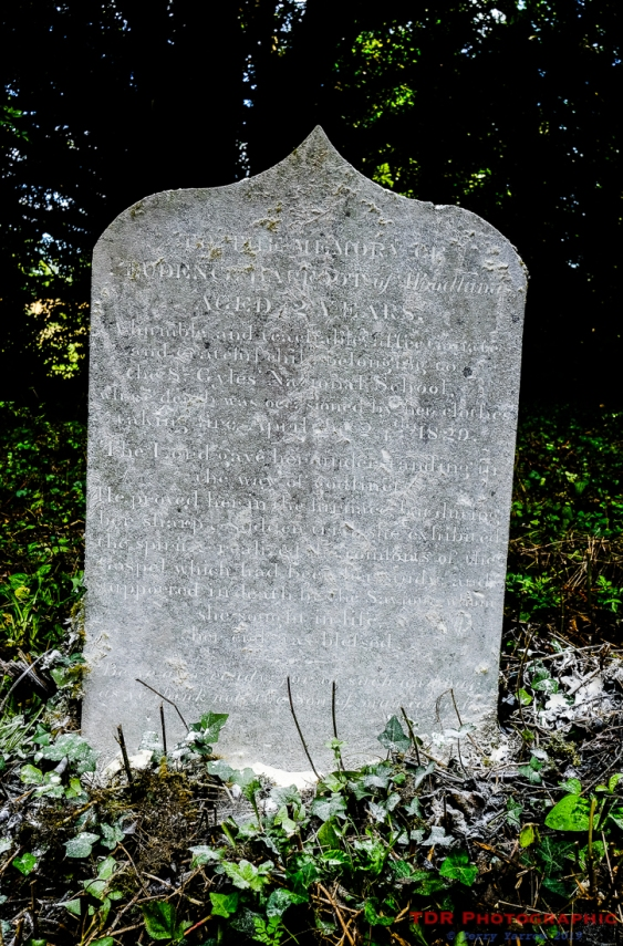 The headstone of Prudence Barfoot after